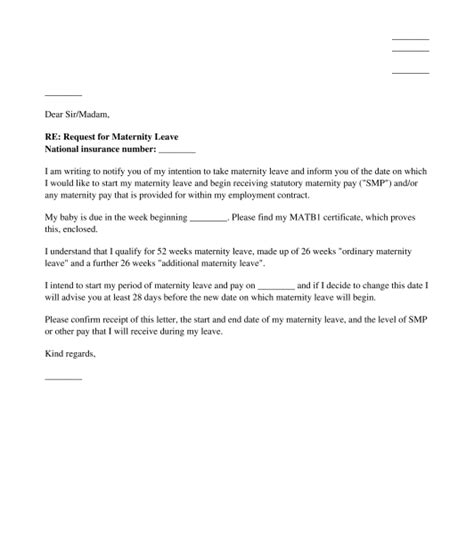 maternity leave letter to employer seatle davidjoel co