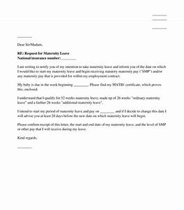letter notifying an employer of intended maternity leave With letter of maternity to employer template