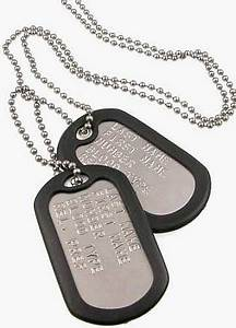 Personalized Military Dog Tags with Silencers; Custom ...
