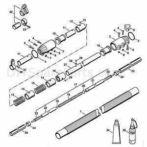 Stihl Ht 131 Pole Pruner  Ht131  Parts Diagram  Drive Tube Assembly Ht131