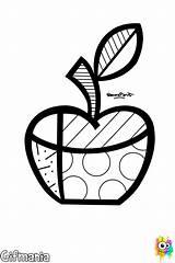 Britto Romero Coloring Pop Brito Clipart Heart Printable Colorir Arte Zipper Pintar Pomme Tuning Drawing Desenhos Apple Coloriage Colorear Graffiti sketch template