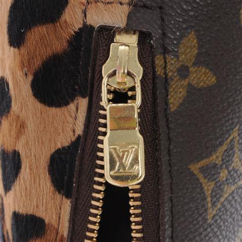 louis vuitton monogram azzedine alaia leopard print pony hair cosmetic pouch