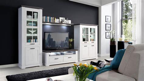 Wohnzimmer Weiss Grau by Wohnwand Gasparo Anbauwand Wohnzimmer In Schneeeiche Wei 223