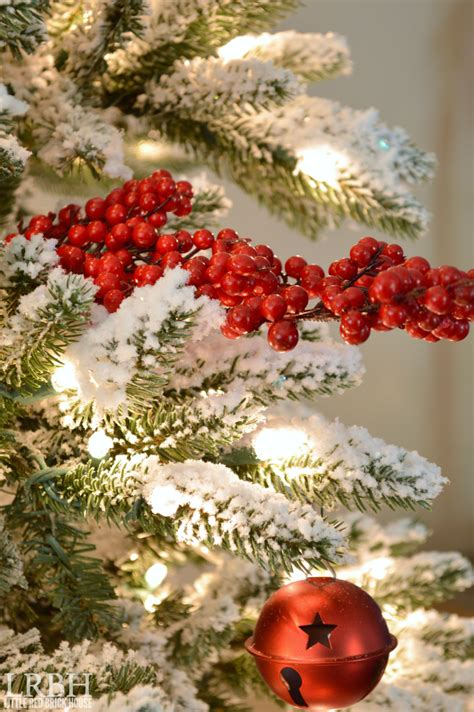 snow and berries christmas tree my home style hop tree edition brick house