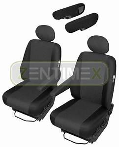 Sitzbezüge Schonbezüge SET QJ Peugeot Boxer Kunstleder schwarz