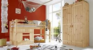 Kinderzimmer Mit Hochbett Komplett : komplett kinderzimmer aus kiefer massiv kids paradise ~ A.2002-acura-tl-radio.info Haus und Dekorationen