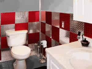 garage bathroom ideas and silver 4 39 x8 39 plate aluminum wall tiles