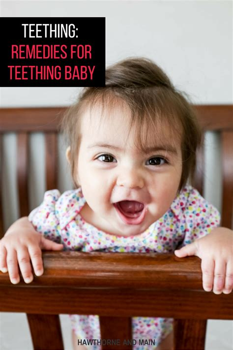 How To Deal With A Teething Baby Hawthorne And Main
