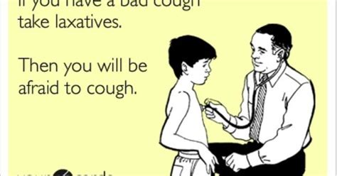 bad cough  laxatives