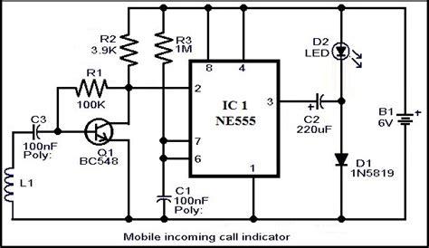 Mobile Incoming Call Indicator Circuit Diagram Wiring