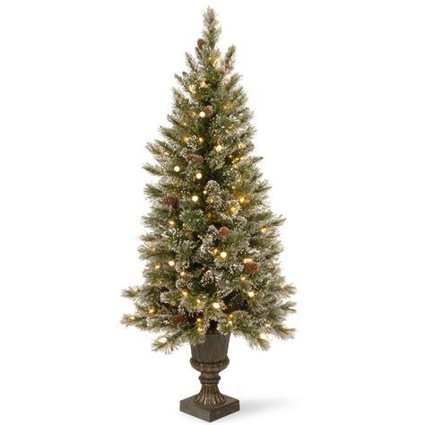 hillside 4ft pre lit cbrostmasf martha stewart living 7 5 ft pre lit led sparkling pine
