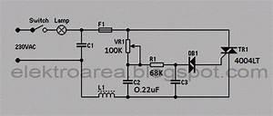Rangkaian Dimmer  Pengatur Contras Lampu 220v