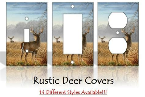 rustic deer outdoors light switch covers home decor outlet