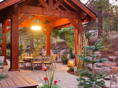 covered patio pavilion design construction  spokane