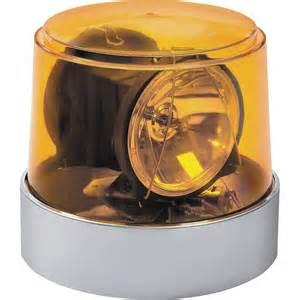 Wolo 3600-A Power Beam Amber Lens Halogen Rotating Warning Light