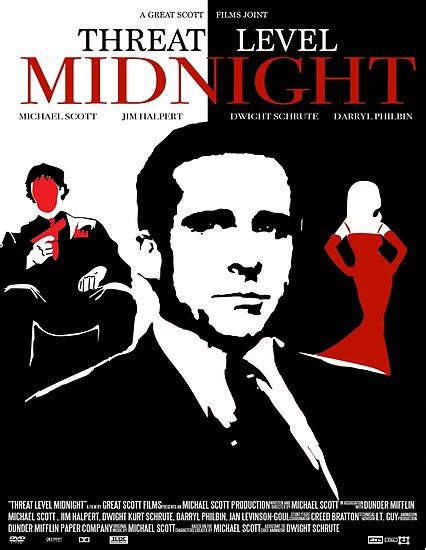 office threat level midnight  poster poster