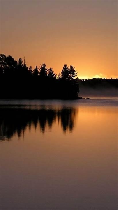 Smartphone Lake Sunset Wallpapers Mist Getphotos