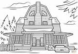 Haunted Coloring Pages Scary Halloween Printable Mansion Adult Drawing Houses Colouring Amityville Spooky Template Categories Sketch Crafts Templates sketch template