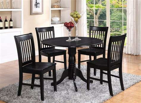 Dlno5blkw 5 Pieces Small Kitchen Table Setround Kitchen