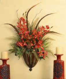 Wall Sconce Silk Flowers