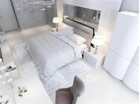 Graue Wnde Im Schlafzimmer Welche Gardinenfarbe Passt Dazu