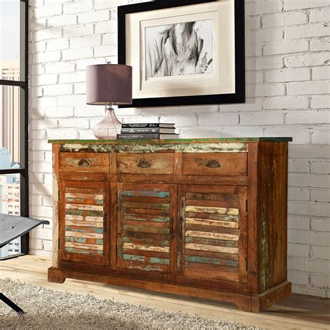 Reclaimed Wood Buffet Sideboard by Rustic Reclaimed Wood 3 Drawer Sideboard