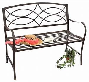 Gartenbank Metall 2 Sitzer : bank gartenbank 111185 aus metall sitzbank baumbank 2 sitzer 109cm parkbank dandibo ~ Indierocktalk.com Haus und Dekorationen