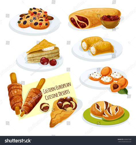european cuisine eastern european cuisine desserts icon stock
