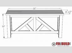 DIY Truss Sofa Table FixThisBuildThat