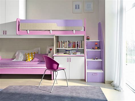 lit avec bureau pour fille lit superpose avec bureau pour fille visuel 7