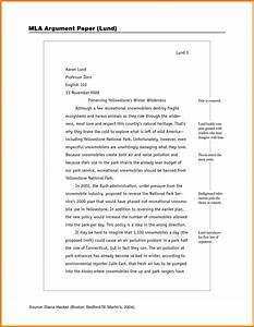 sample mla research paper college address