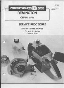 Remington Chainsaw Workshop Downloadable Pdf Service And