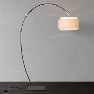 buy john lewis evie curve floor lamp john lewis With giant curved floor lamp with metal shade