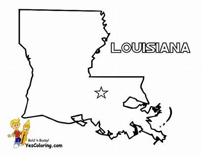 Map Coloring Louisiana Pages State States Yescoloring