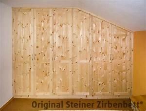 Schrank Für Schlafzimmer : zirbenholz schrank f r schlafzimmer 6 teilig ma einbau in mansarde zirbenholzschr nke ~ Eleganceandgraceweddings.com Haus und Dekorationen