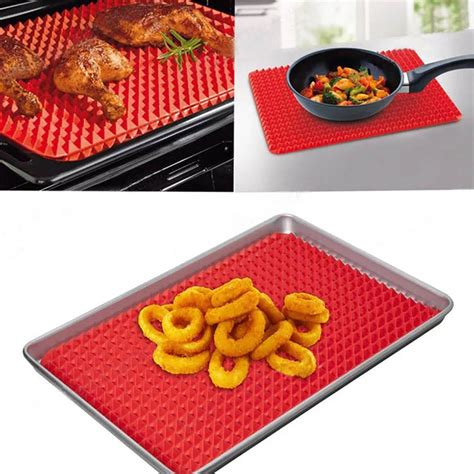 baking silicone mat sheet tv chef mats roasting healthy 1pc 17cm raised direct