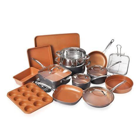 gotham steel original copper  piece ceramic  stick cookware set  bakeware reviews