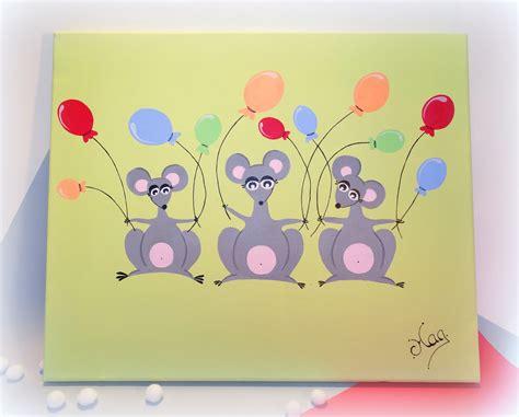 tableau chambre bébé cuisine tableau souris pour chambre d enfant b 195 169 b 195 169 quot l anniversaire des p attachante chambre
