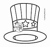 Coloring Hat Usa Pages Independence July Printable 4th Patriotic Drawing Hats Colouring Sam Cat Sheets Printables Fourth Crafts 4kids Uncle sketch template