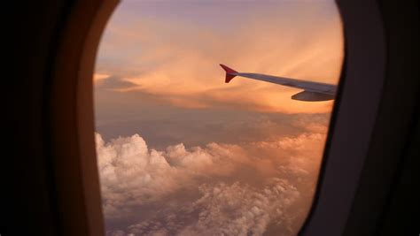 Looking Out Airplane Window Stock Footage Video 2728706