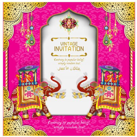 Indian wedding cards Vector Premium Download