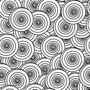 Black-and-white background with spiral circles Vector ...