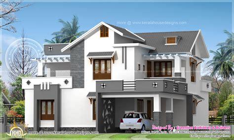 4 bedroom floor plans one modern 214 square meter house elevation kerala home