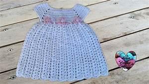 robe bebe crochet baby dress crochet diy youtube With robe au crochet