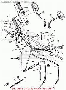 Yamaha Dt100 1978 Usa Handlebar  E011001