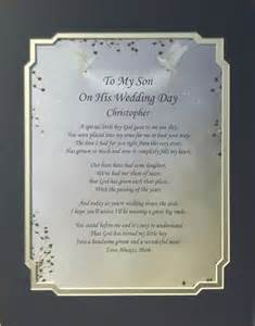 Poem to My Son On His Wedding Day