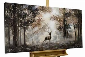 Gemälde Hirsch Modern : handgemaltes bild mit hirsch in acryl kaufen kunstloft ~ Orissabook.com Haus und Dekorationen