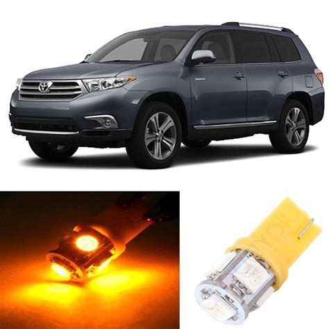 11x yellow led interior light bulbs package deal for 2008
