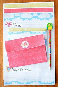 free printable kids letter writing set picklebums With children s letter writing sets