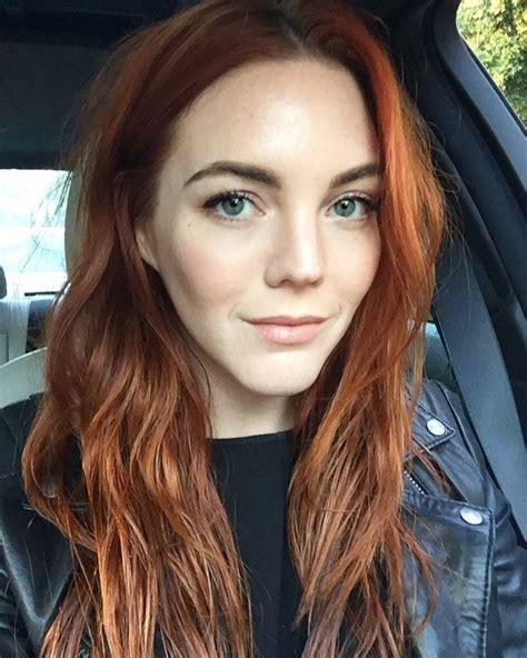 Thin Wavy Long Pumpkin Spice Colored Hair Hair In 2019